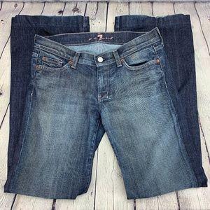 7 For All Mankind DOJO Flare Dark Wash Jeans 7FAM